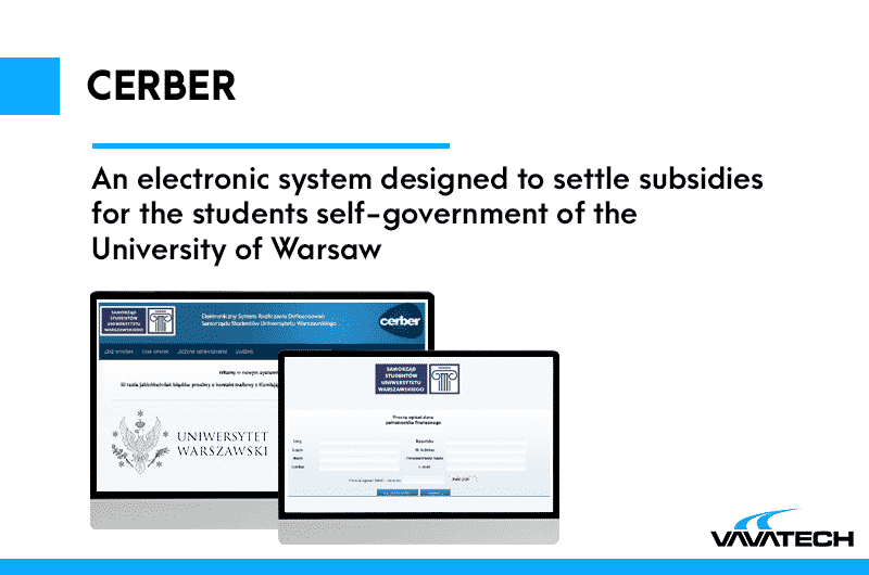 Internal system created by Vavatech for the University of Warsaw