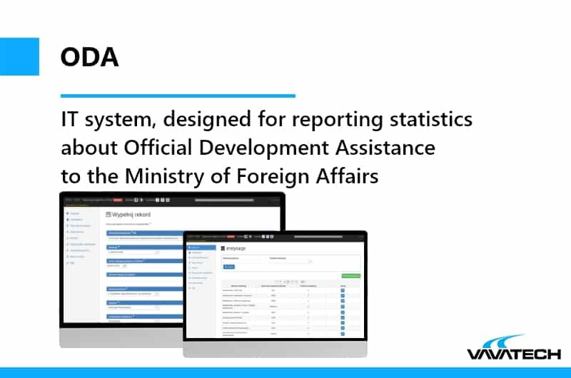 Advanced Java system, made by Vavatech for the Ministry of Foreign Affairs of Poland