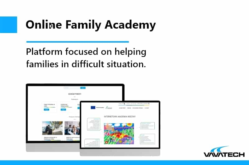 Wordpress platform made for helping families. Vavatech